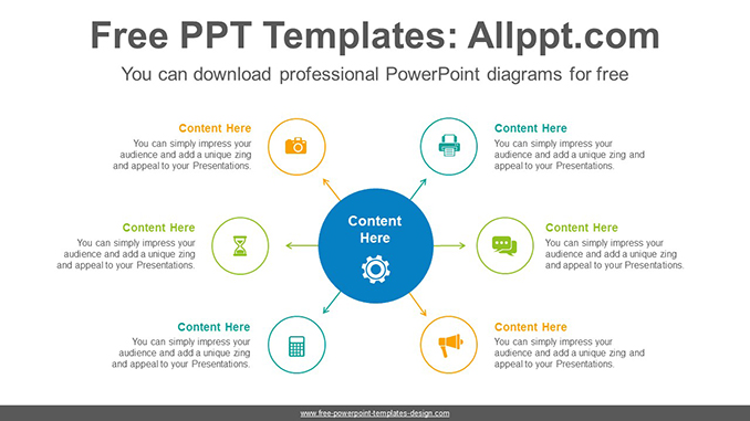6 circles powerpoint diagram template