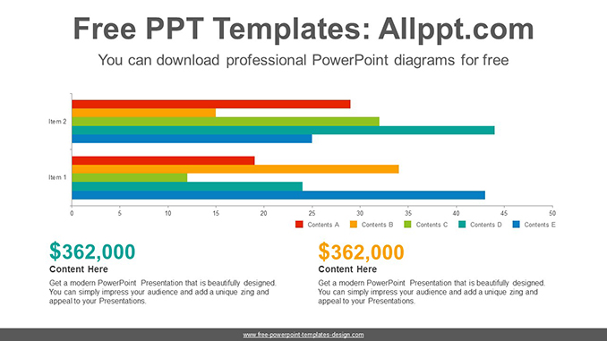 Clustered bar chart PowerPoint Diagram Template post image clustered bar chart powerpoint diagram template