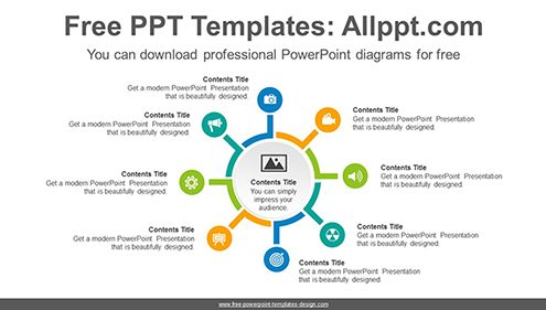 Free powerpoint diagrams design triangle powerpoint diagram template divergent circles powerpoint diagram template list image ccuart Gallery