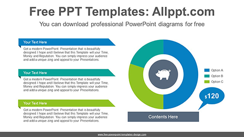 donut pie chart powerpoint diagram template