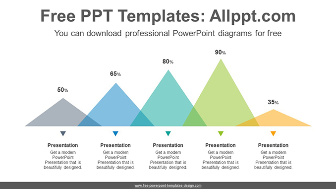 flat triangle chart powerpoint diagram template post image