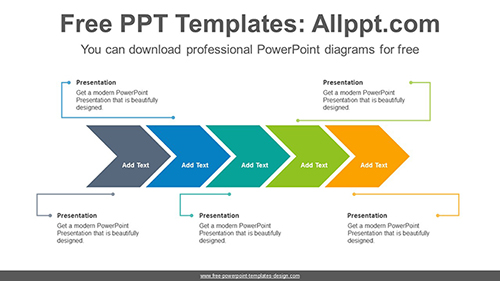 Horizontal alignment chevron PowerPoint Diagram Template