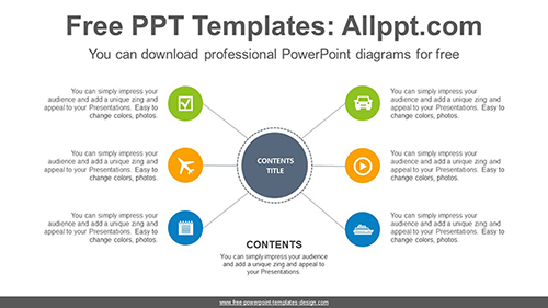 Radial Circle Powerpoint Diagram Template