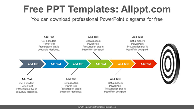 Targeting chevron arrow PowerPoint Diagram Template
