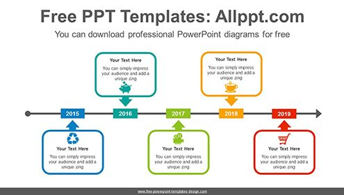 Free powerpoint timeline diagrams arrow across rectangular powerpoint diagram template list image toneelgroepblik Gallery