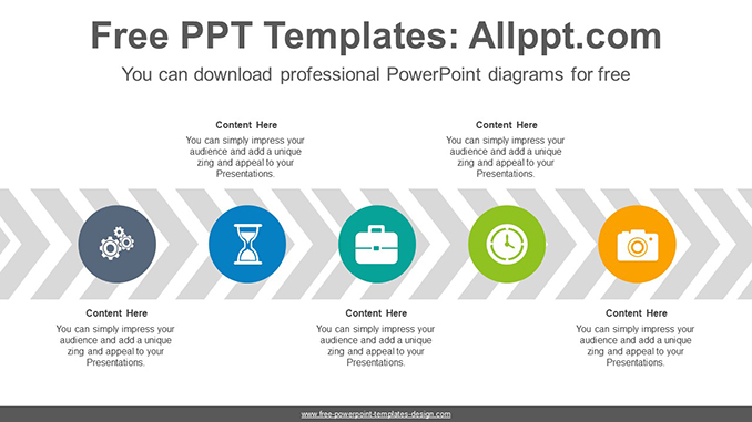 Chevron arrow flow PowerPoint Diagram Template