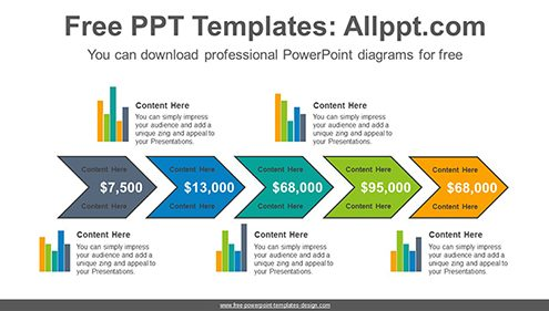 Free powerpoint charts design chevron bar chart powerpoint diagram template list image ccuart Gallery