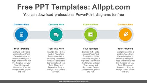 Free powerpoint diagrams design four circle list powerpoint diagram template list image ccuart Image collections