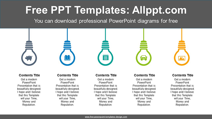 Icon Built In Light Bulb Powerpoint Diagram Template