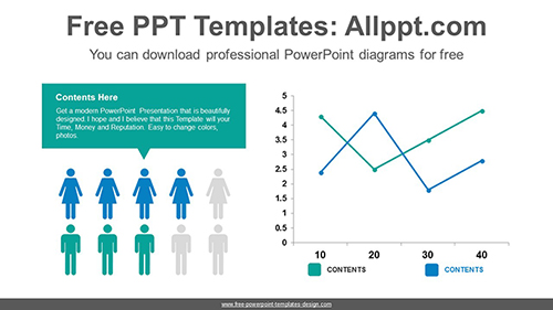 icons line chart powerpoint diagram template