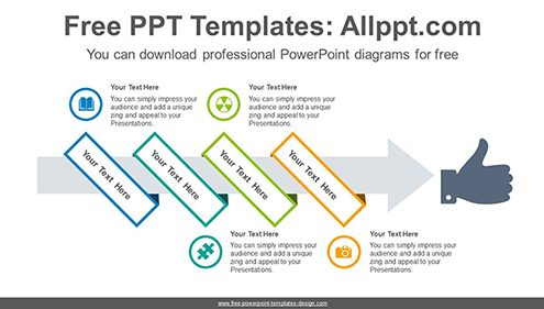 Free powerpoint flow and process diagrams ribbon wrapped arrow powerpoint diagram template list image toneelgroepblik Image collections