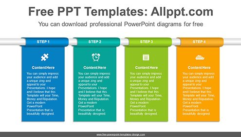 Free powerpoint flow and process diagrams vertical banner flow powerpoint diagram template list image toneelgroepblik Image collections