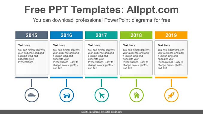 Text Boxes Powerpoint Diagram For Free